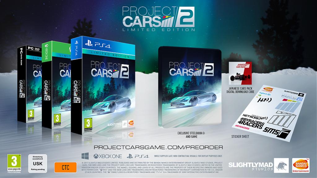 Limitowana edycja Project CARS 2 Promocja