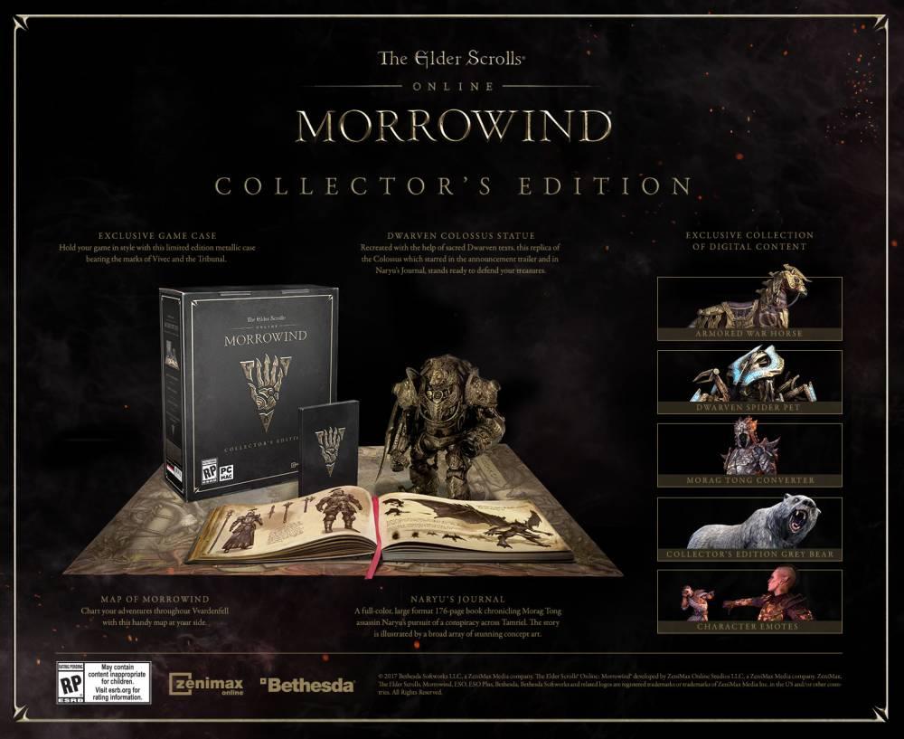 The Elder Scrolls Online Morrowind Edycja Kolekcjonerska