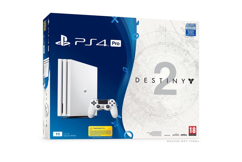 Białe Playstation 4 Pro w zestawie z Destiny 2