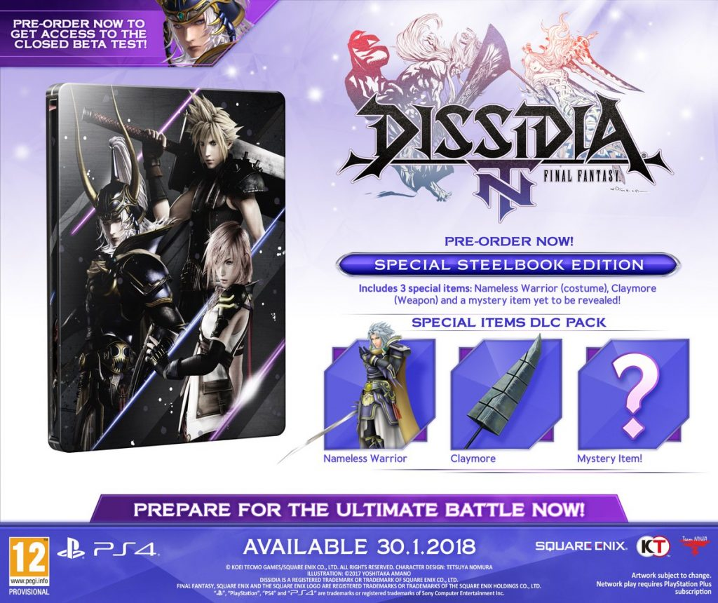 Dissidia Final Fantasy NT Steelbook Edition