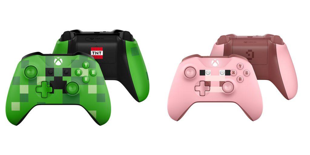 Kontrolery Xbox One S Minecraft Creeper Pig
