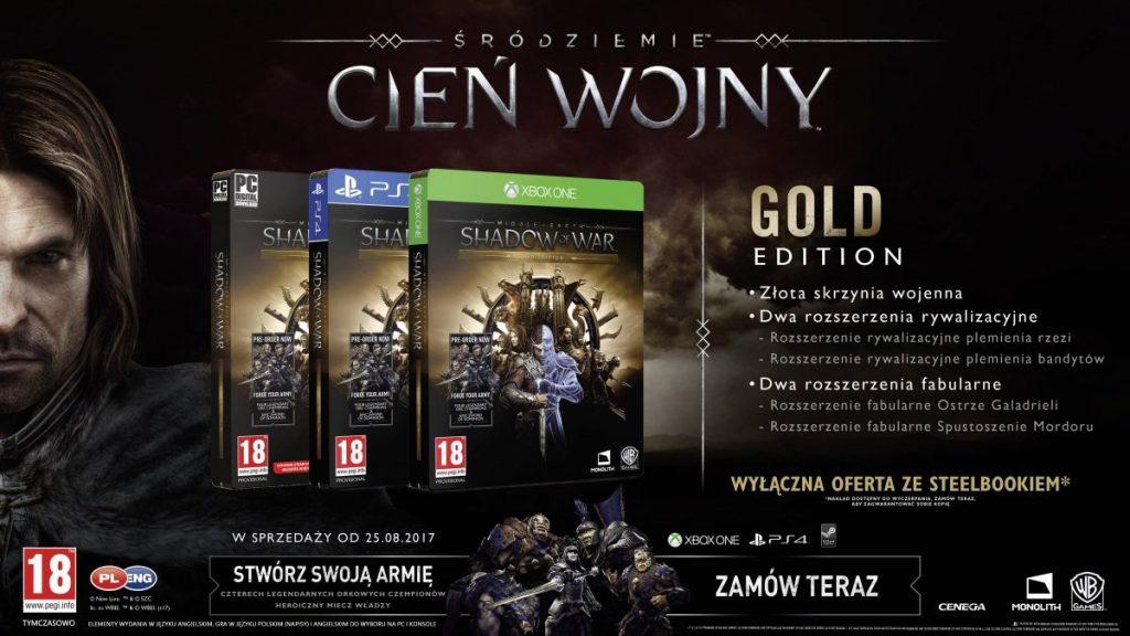 Śródziemie: Cień Wojny Edycja Gold