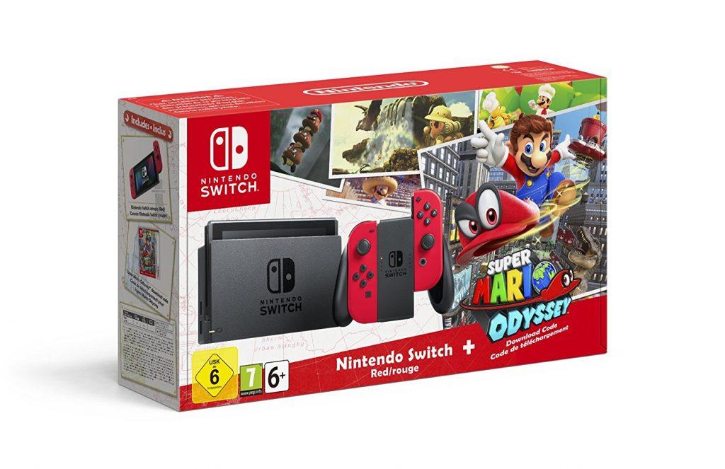Zestaw Nintendo Switch z Super Mario Odyssey