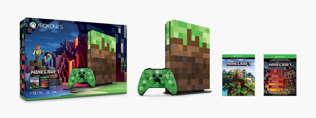 Zawartość limitowanej edycji Xbox One S Minecraft