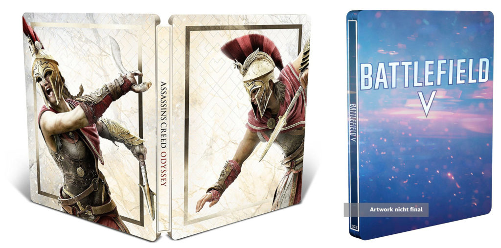 Steelbook z Assassin's Creed Odyssey i Battlefield V