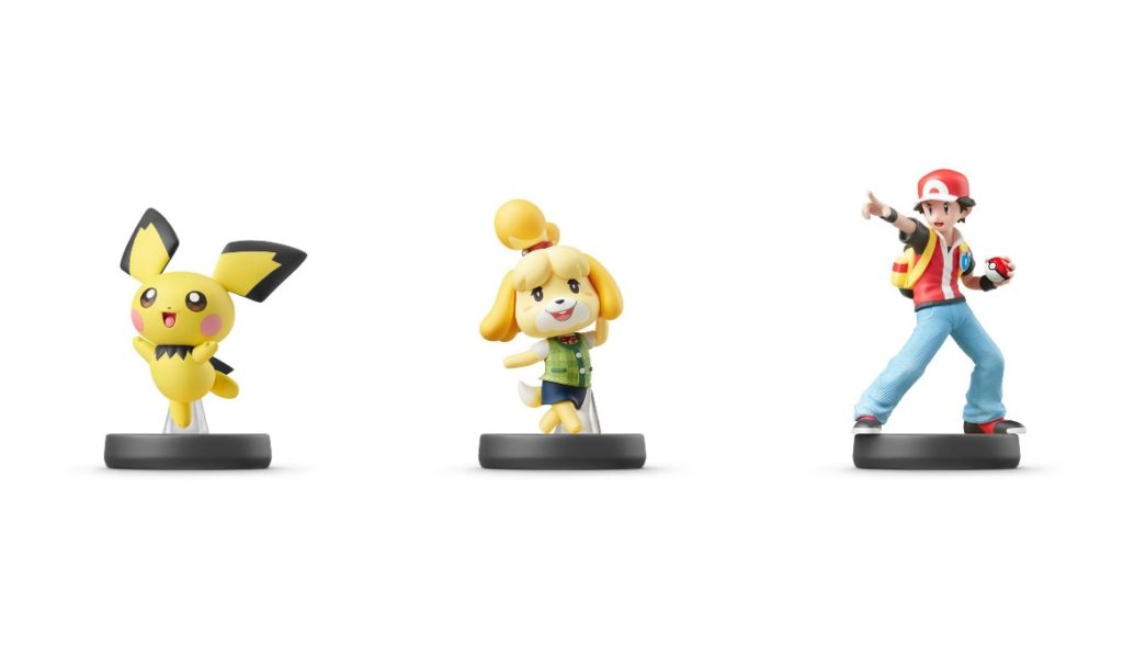 Amiibo Pichu, Isabelle, Pokemon Trainer