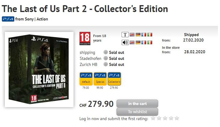 The Last Of Us Part 2 Edycja Kolekcjonerkska - wyciek