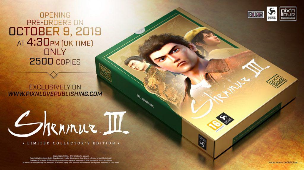Shenmue III limitowana edycja Pix'n Love
