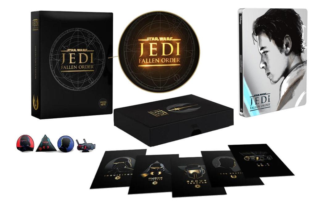 Star Wars Jedi Upadły Zakon kolekcjonerskie pudełko i Steelbook