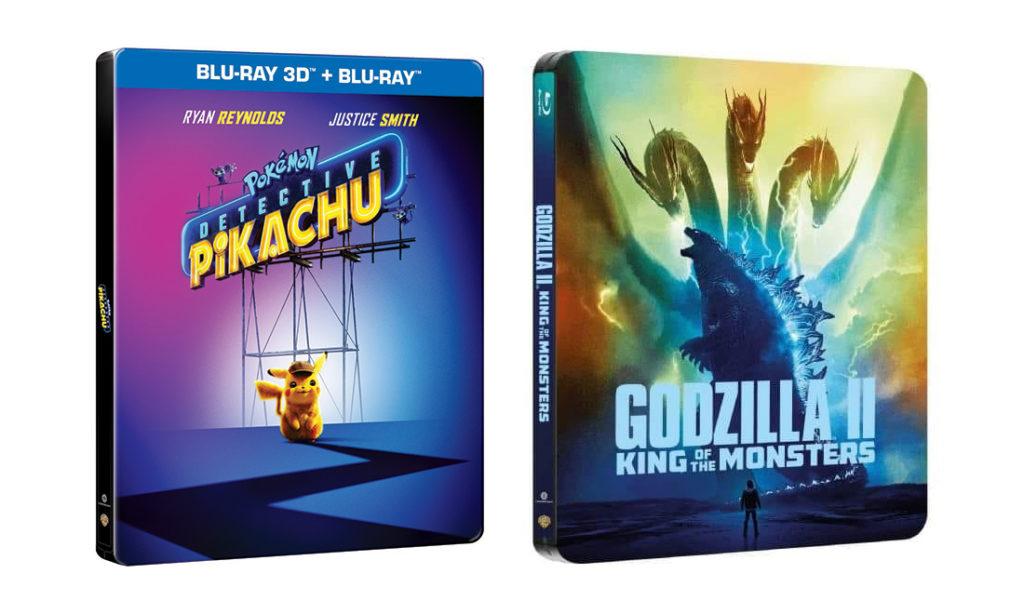 Steelbooki z Pokemon: Detektyw Pikachu i Godzilla II: Król potworów