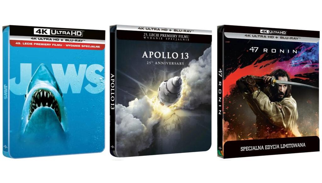 Steelbooki z Apollo 13 i 47 Roninów i Szczęki w 4K UHD