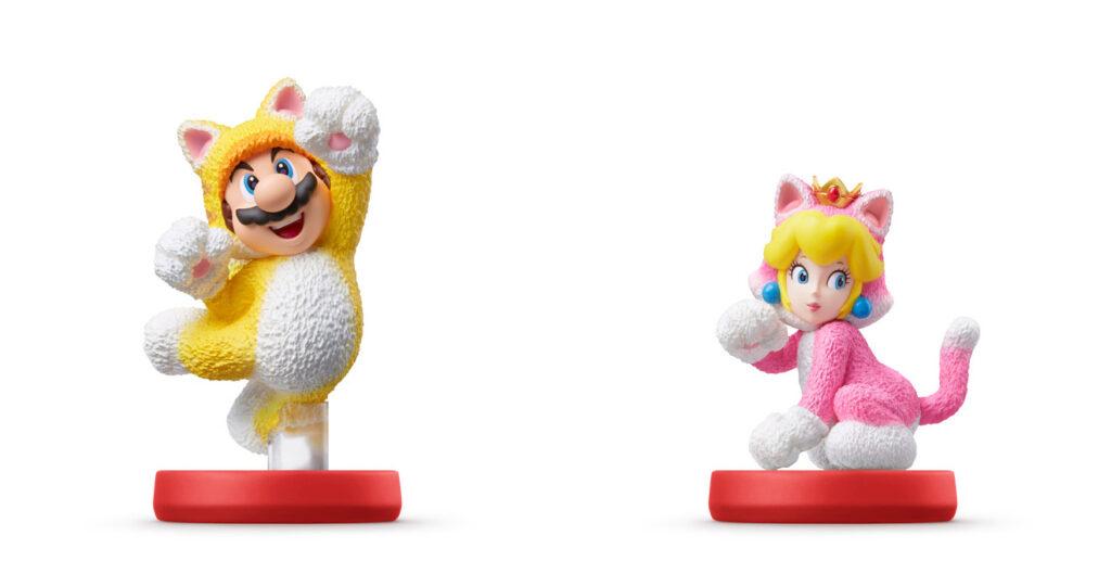 Amiibo Cat Mario i Cat Peach