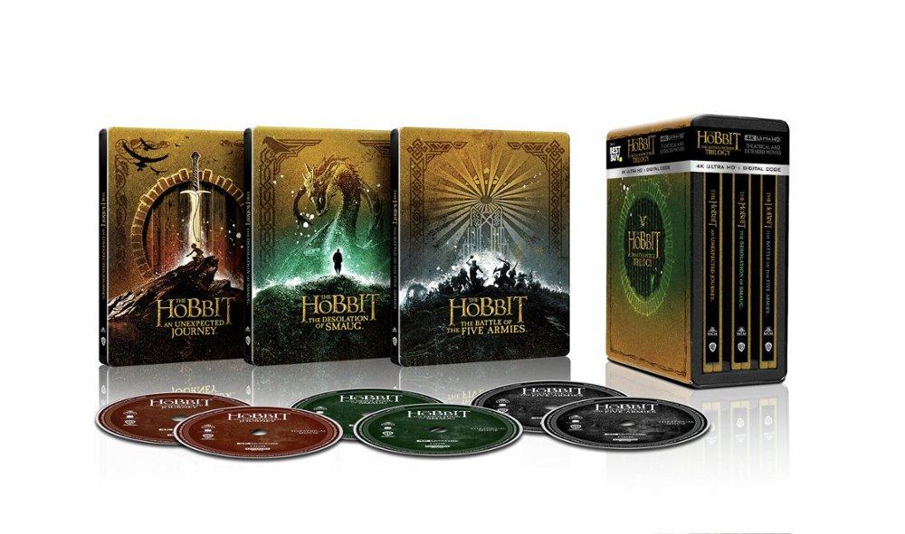 Hobbit Trylogia 4K Steelbooki