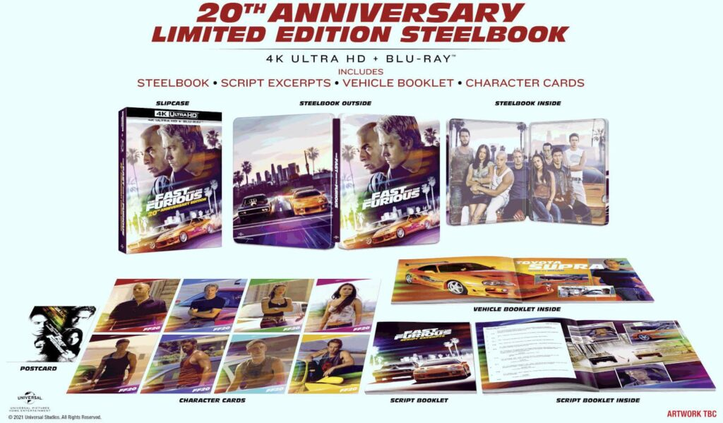 Szybcy i wściekli 4K 20th Anniversary Limited Steelbook Edition