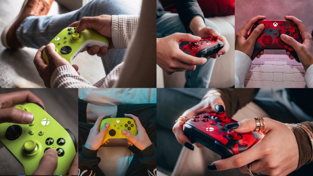 Kontrolery Microsoft Xbox - Electric Volt i Daystrike Camo