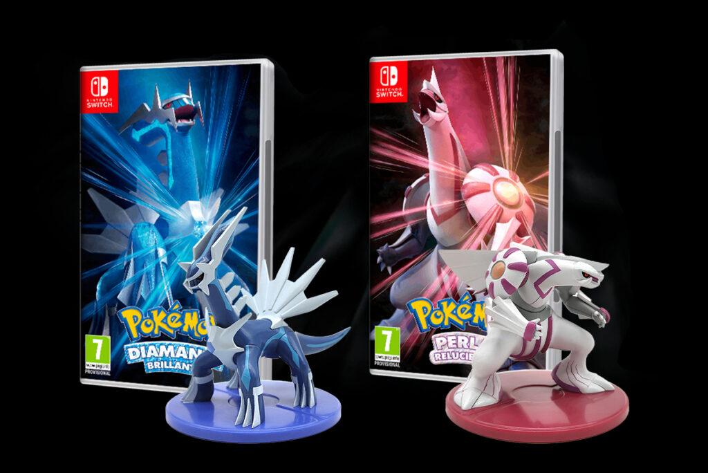 Pokemon Shining Pearl i Pokemon Brilliant Diamond - figurki Palkia oraz Dialga