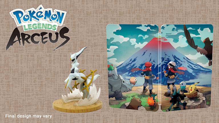 Pokémon Legends: Arceus Steelbook i figurka