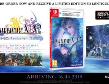 Karta z grafiką 3D jako bonus w przedsprzedaży Final Fantasy X / X-2 HD Remaster na Nintendo Switch