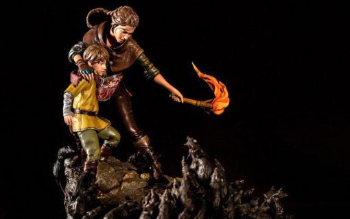 Amicia i Hugo na limitowanej figurce z A Plague Tale: Innocence