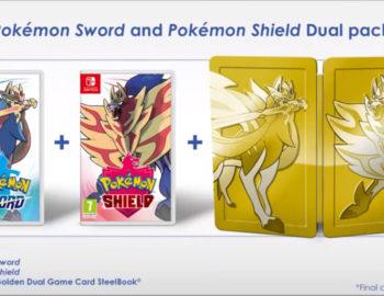Pokemon Sword i Shield w zbiorczym wydaniu zawierającym Steelbook