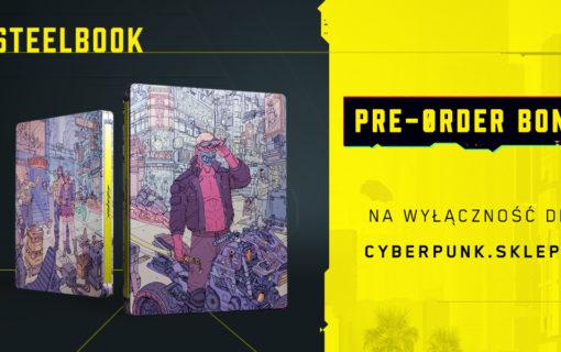 Steelbook z Cyberpunk 2077 jako bonus w przedsprzedaży