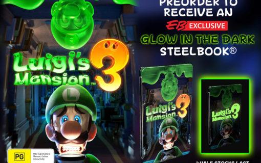 Ujawniono wygląd święcącego steelbooka z Luigi's Mansion 3