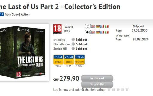 Czy wkrótce poznamy kolekcjonerskie wydania The Last Of Us Part II?