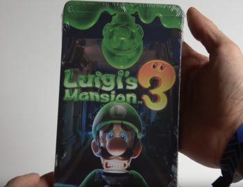 Prezentacja świecącego Steelbooka z Luigi's Mansion 3
