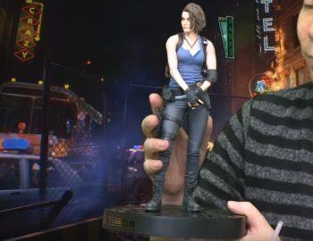 Figurka Jill Valentine z kolekcjonerki Resident Evil 3 na pierwszym materiale wideo