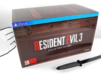 Kolekcjonerka Resident Evil 3 na unboxingu