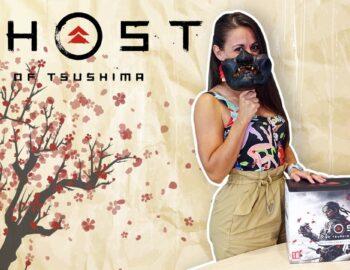 Kolekcjonerka Ghost of Tsushima na pierwszym unboxingu