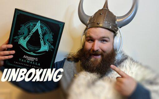Edycja kolekcjonerska Assassin's Creed Valhalla na unboxingu