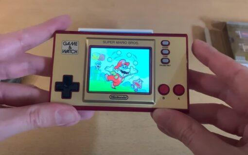 Game & Watch: Super Mario Bros. na unboxingu