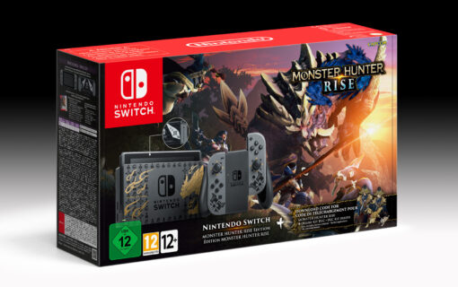Konsola Nintendo Switch i Pro Controller w limitowanej edycji Monster Hunter Rise
