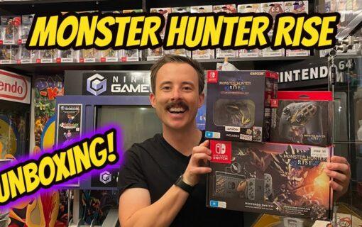 Monster Hunter Rise – limitowane Nintendo Switch i Pro Controller na unboxingu