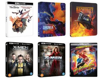 Nowe zagraniczne Steelbooki z filmami – w preorderze m.in. Godzilla vs. Kong, X-men, Ptaki i Bohater ostatniej akcji