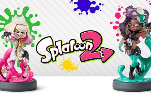 Marina i Pearl ze Splatoon 2 z własnymi amiibo
