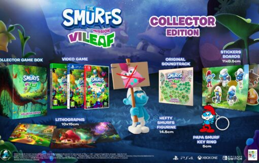 Zaprezentowano specjalne wydania The Smurfs Mission Vileaf