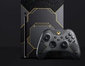 Xbox Series X i pad Elite 2 w limitowanej edycji Halo Infinite