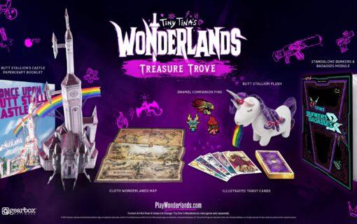 Zestaw kolekcjonerskich gadżetów z Tiny Tina's Wonderlands