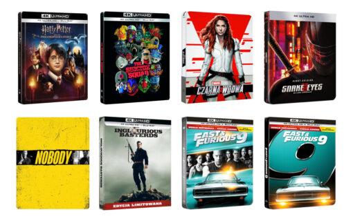 Nowe Steelbooki z filmami – w przedsprzedaży m.in. Szybcy i wściekli 9, Harry Potter, Czarna Wdowa i Legion Samobójców