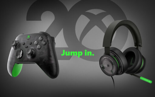Kontroler i słuchawki w specjalnej wersji z okazji 20-lecia Xboxa