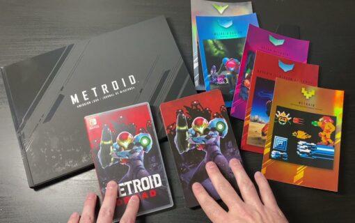 Metroid Dread Special Edition na unboxingu