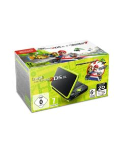 New Nintendo 2DS XL czarno-limonkowa + Mario Kart 7