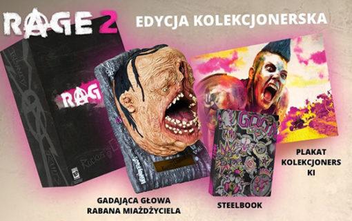 Gadająca głowa w kolekcjonerce Rage 2