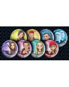 8 przypinek z Dragon Quest XI: Echoes of an Elusive Age