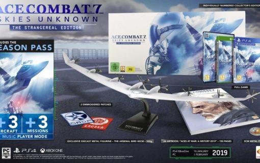 Ace Combat 7: Skies Unknown The Strangereal Edition z modelem pojazdu powietrznego