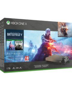Konsola Xbox One X edycja specjalna Gold Rush w zestawie z Battlefield V
