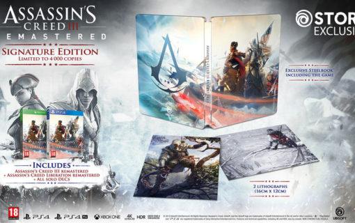 Steelbook w Assassin's Creed III Remastered Signature Edition