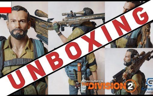 Figurka przedstawiająca Briana Johnsona z The Division 2 na unboxingu